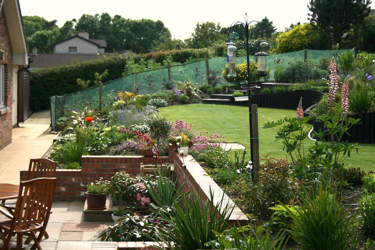 Terraced garden design