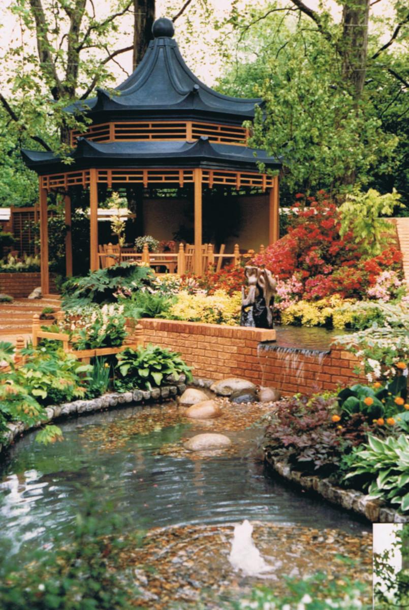 Chelsea 1987 oriental garden 1 water feature
