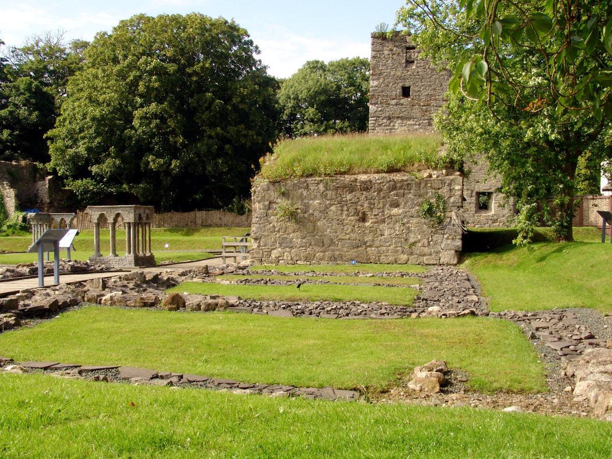 Rushen Abbey Gardens archaeology