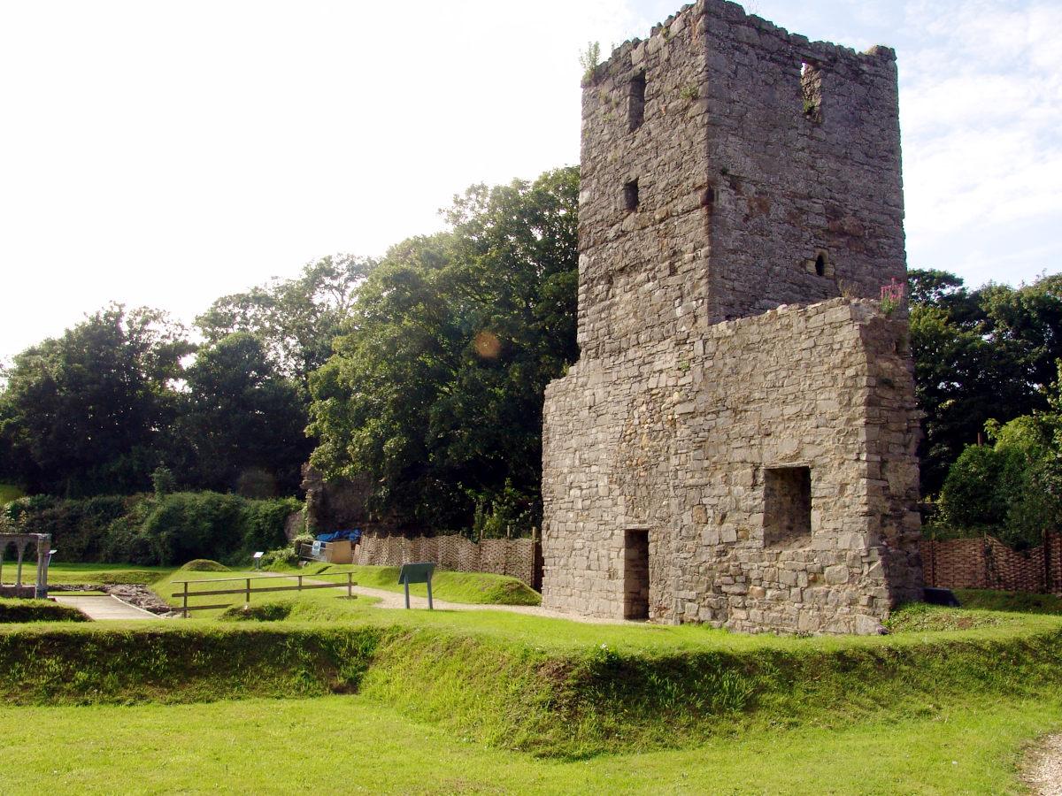 Rushen Abbey Gardens tower