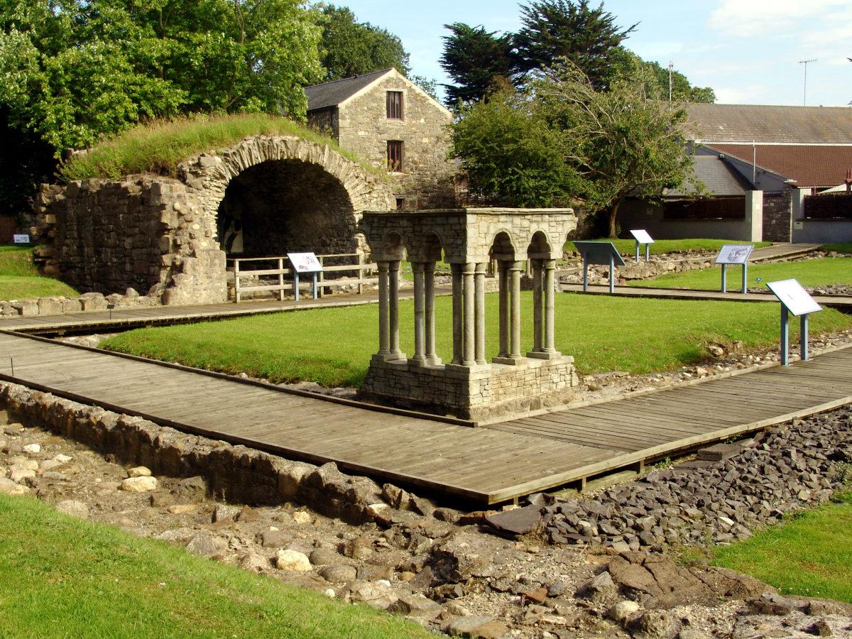 Rushen Abbey Gardens monastery cloister
