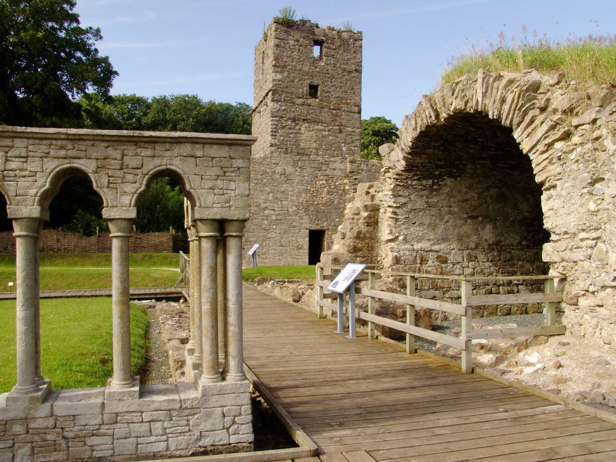 Rushen Abbey Gardens monastery ruins