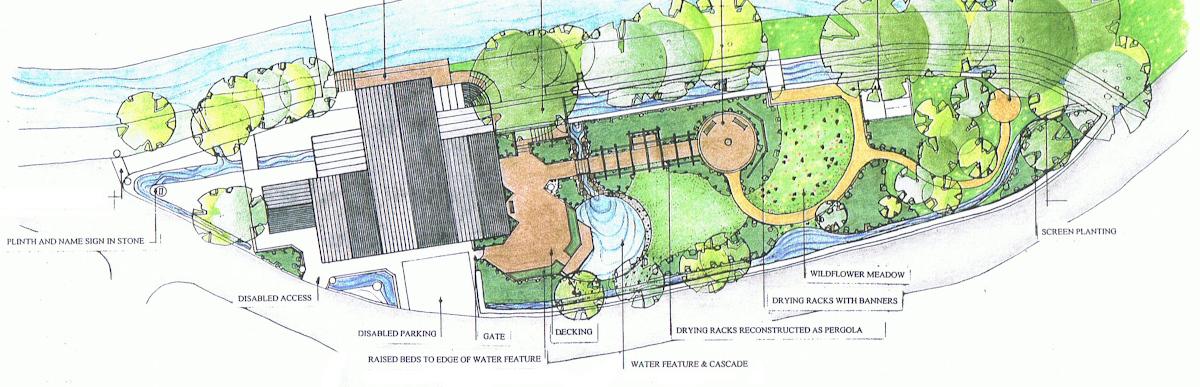 Plan of Wildflower Garden St Johns Mill Isle of Man